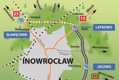 mapa - obwodnica Inowrocławia