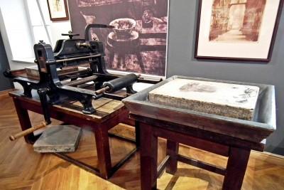 Muzeum Wyczółkowskiego - prasa litograficzna