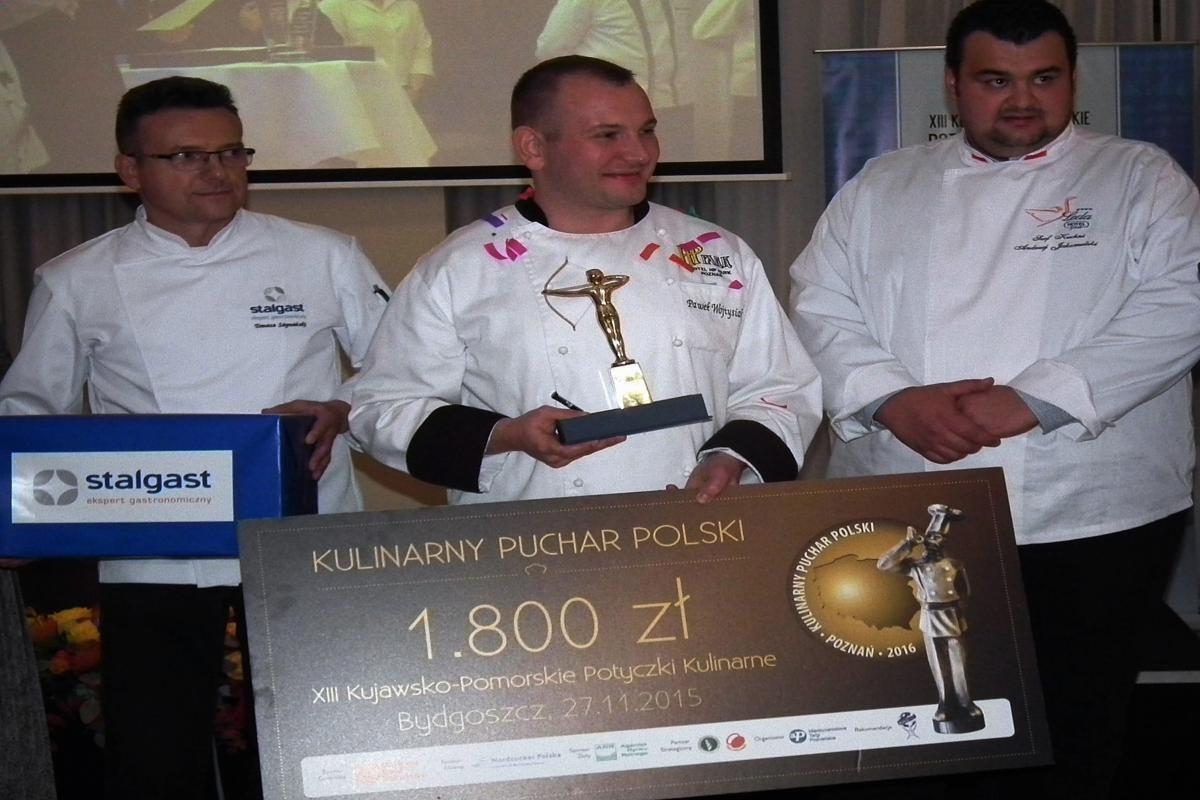 Paweł Wojtysiak - zwycięzca XIII Kujawsko Pomorskich Potyczek Kulinarnych
