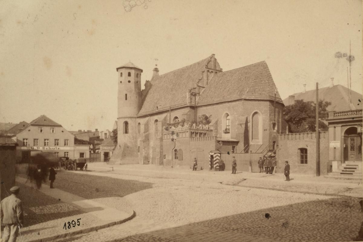 Stara Bydgoszcz.  Kościół Klarysek jako remiza straży pożarnej, 1895 r.