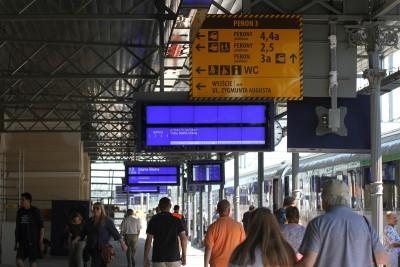 dworzec, tablice