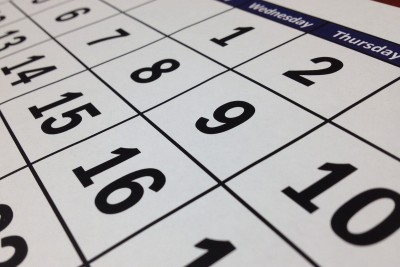 kalendarz kartka