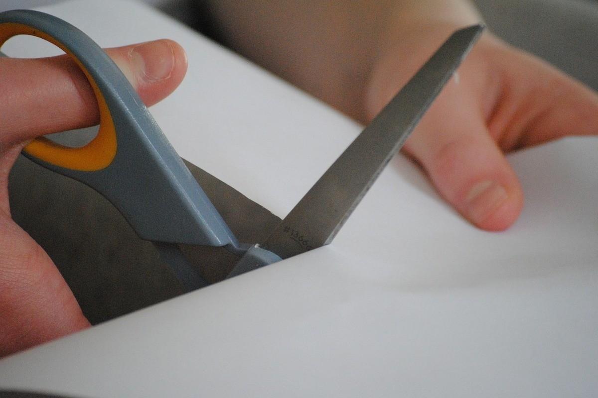 nożyczki cięcie