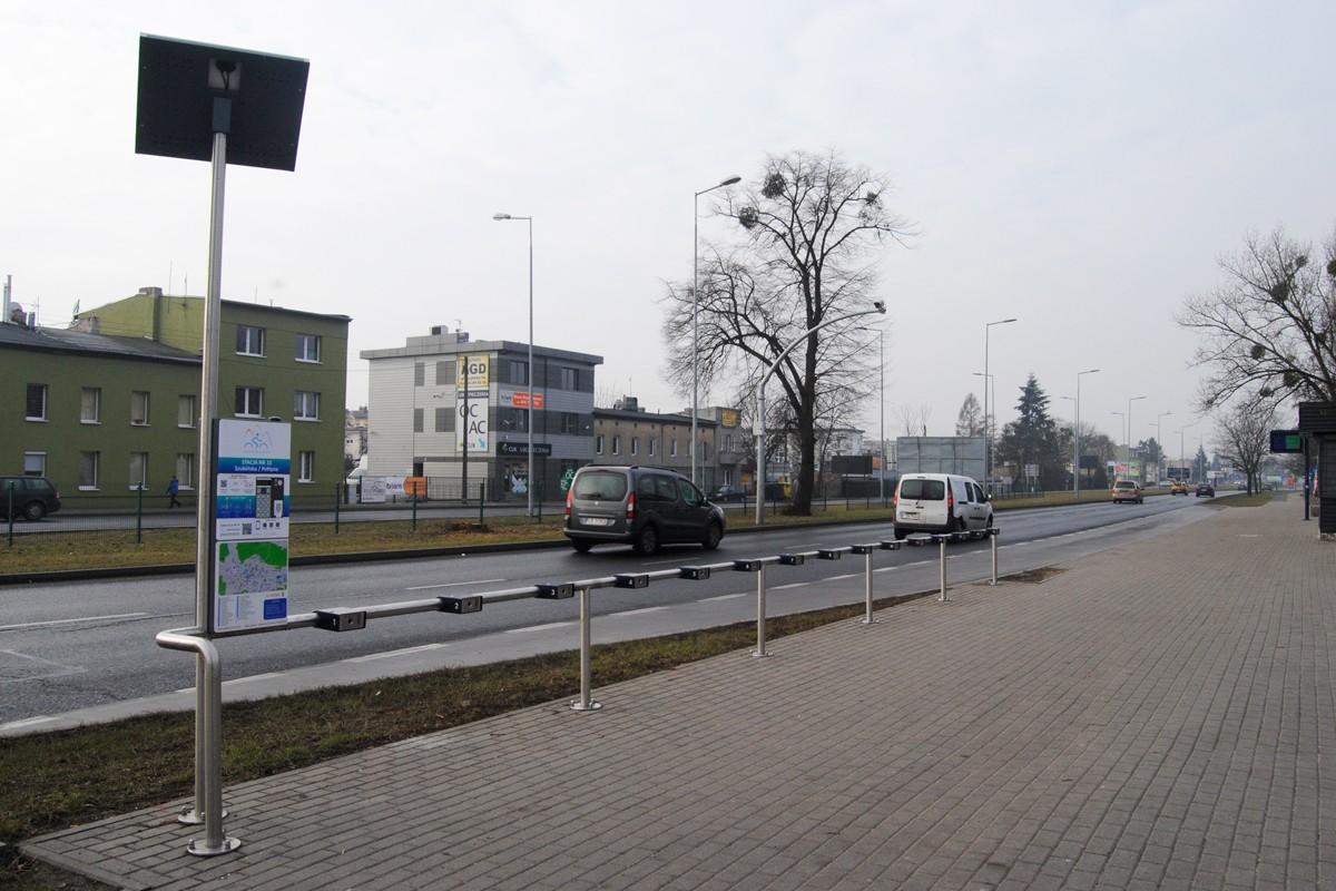 Bydgoski Rower Aglomeracyjny - stacja, ulica Szubińska-Połtyna - LG