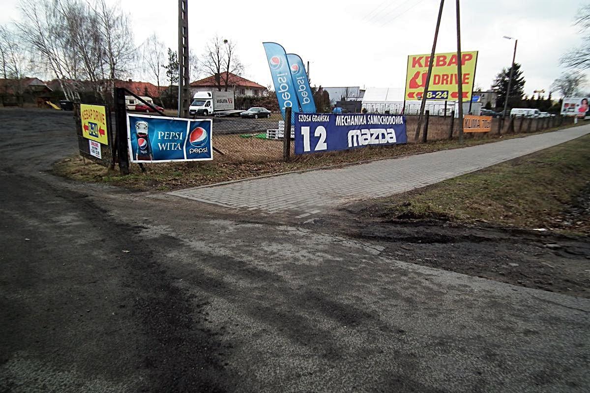 Miejsce wypadku Osielsko