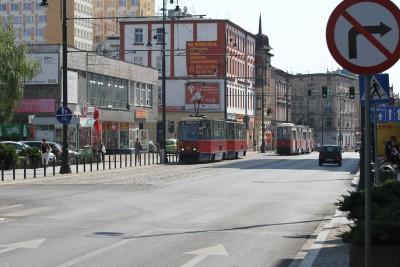 Ul. Dworcowa, linia nr 3, tramwaj, mijanka - ED