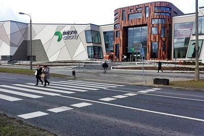 Zielone Arkady przejście dla pieszych