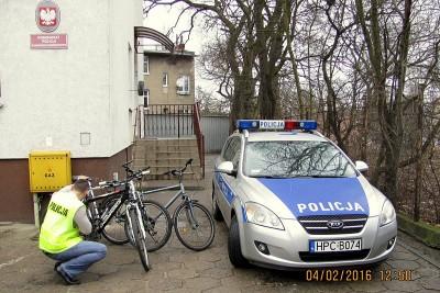 policja, rowery,złodziej