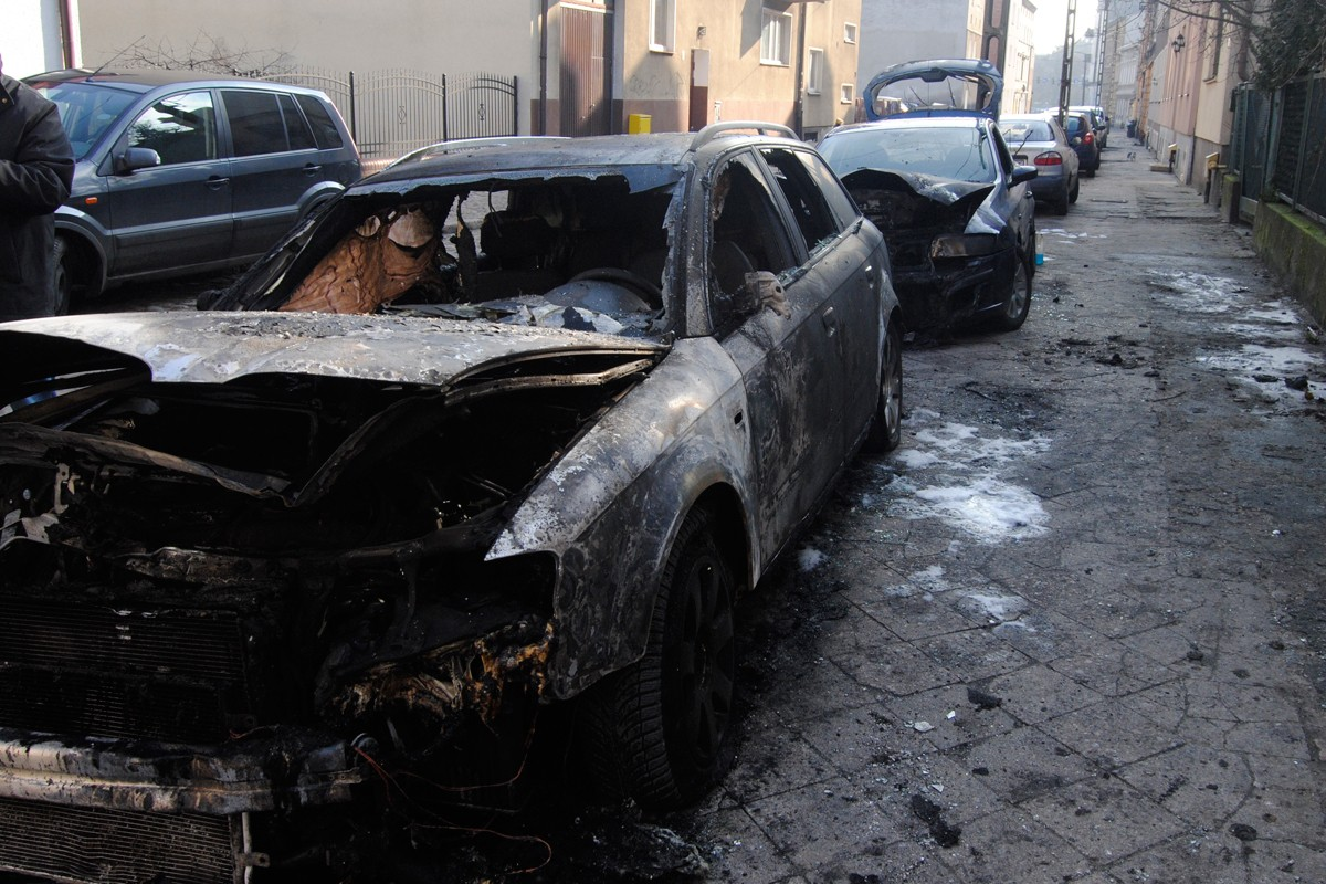 Spalone auta, ulica Lubelska - LG (14)