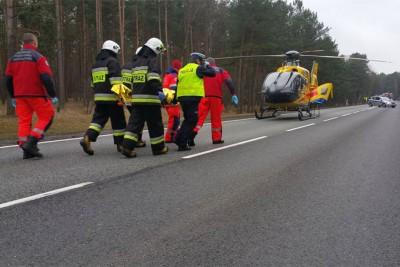 Wypadek DK nr 10 Stryszek