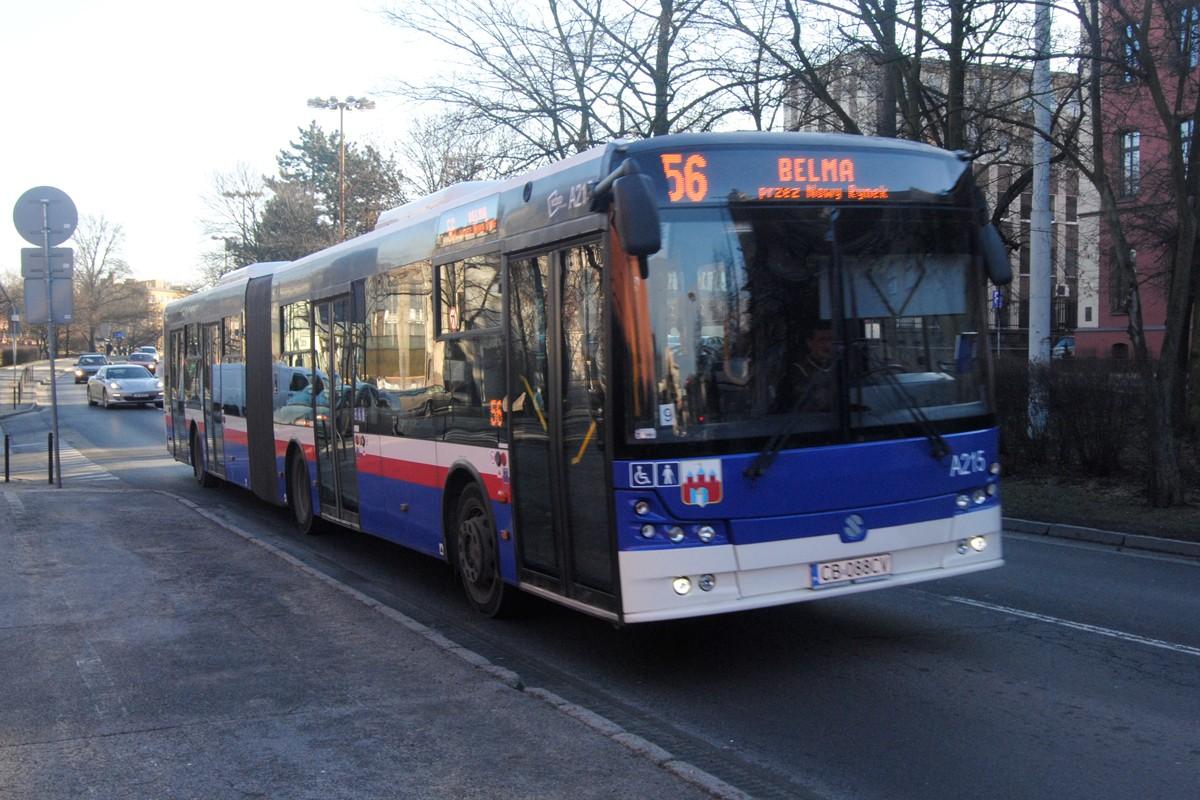 Autobus - linia 56, Belma, Wały Jagiellońskie - LG