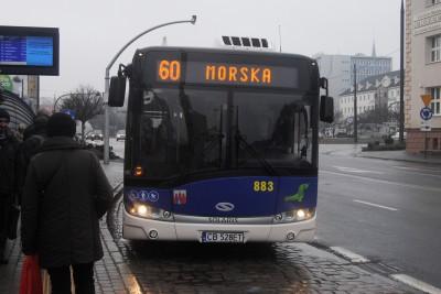 Autobus - linia 60, Morska, Rondo Jagiellonów - LG