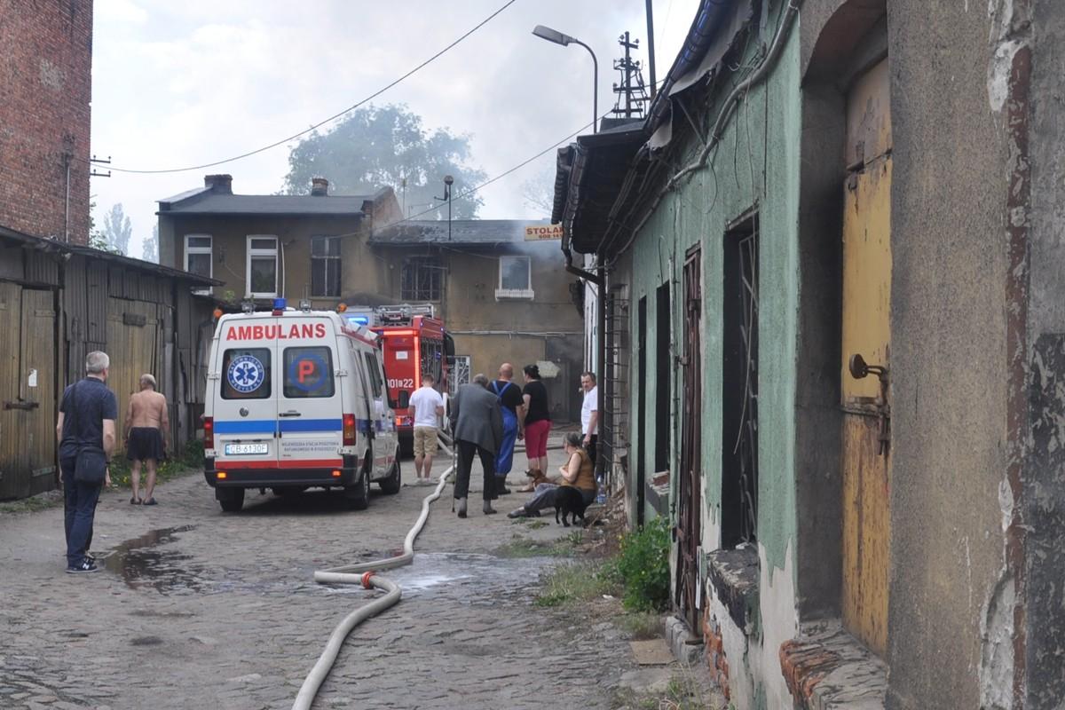 pożar Rycerska Bydgoszcz