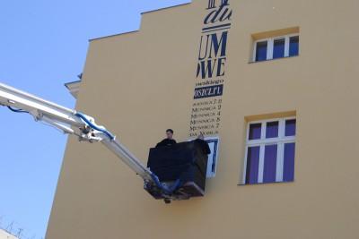 Etap tworzenia muralu, ulica Dworcowa - LG (5)