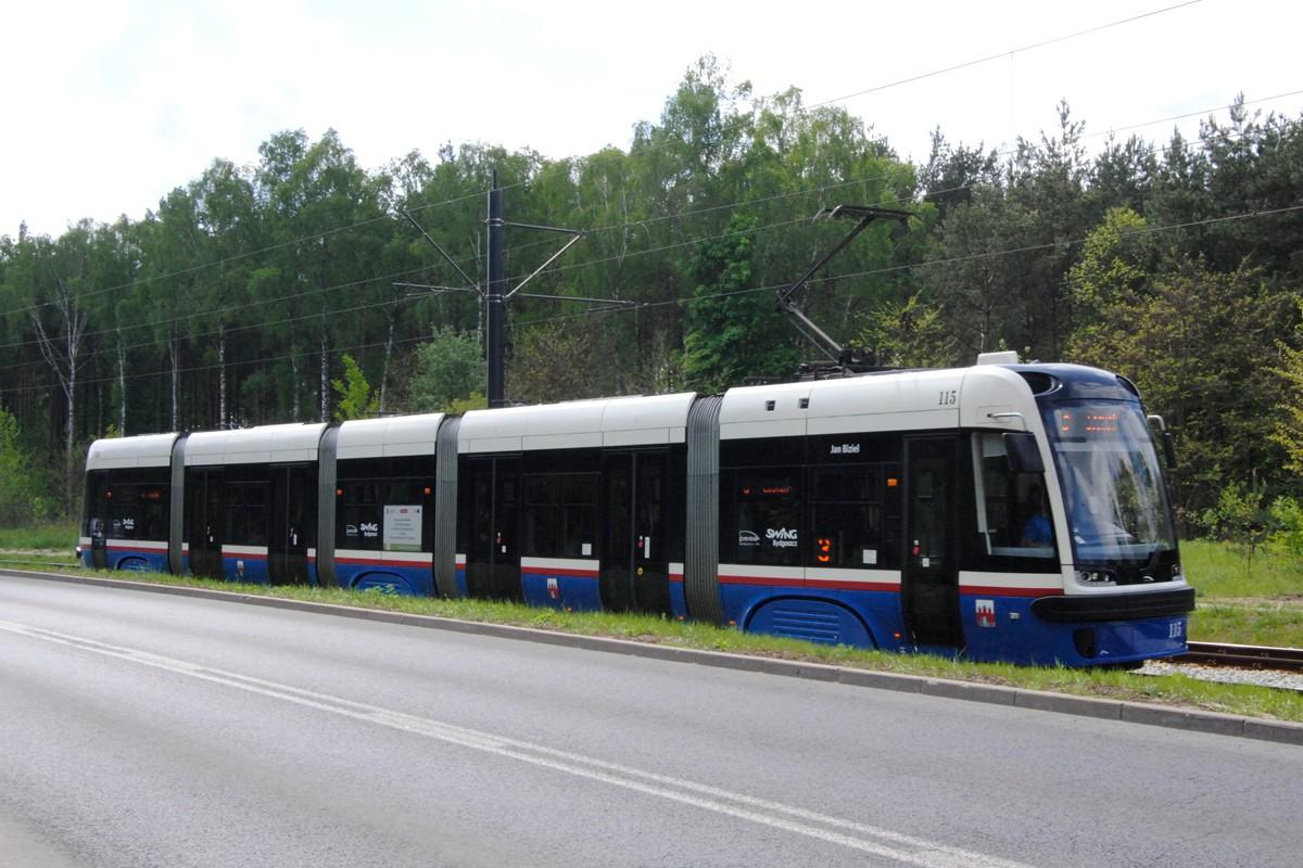 Tramwaj PESA - linia 3, Łoskoń, odcinek Dworzec Wschód-Rejewskiego - LG (1)