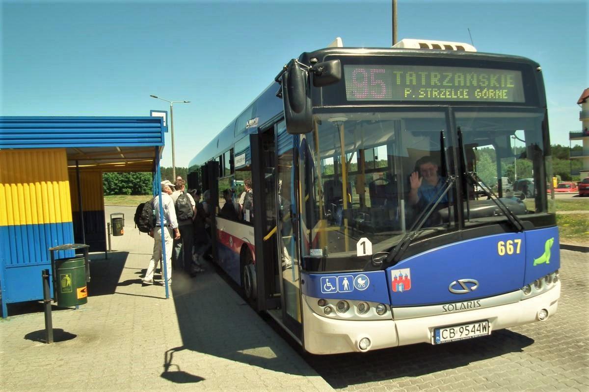 linia 95, autobus, - SG