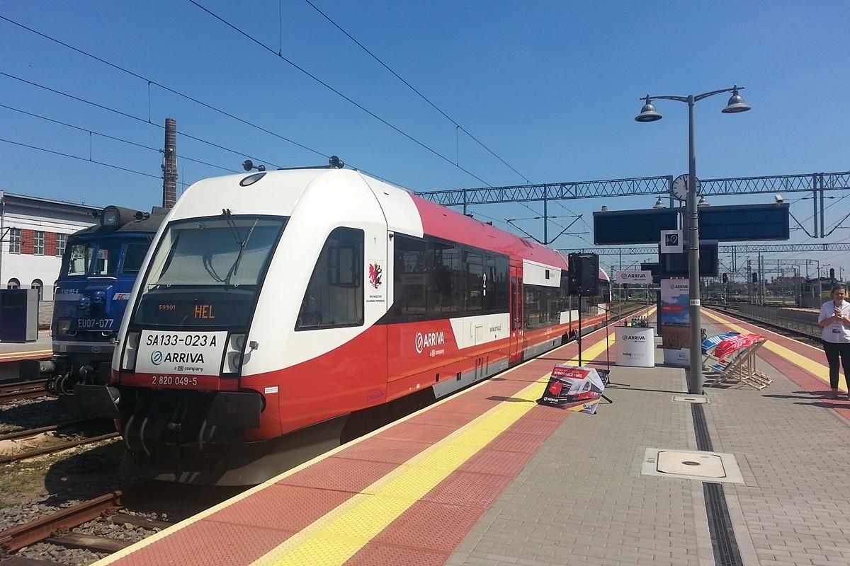 pociąg, Arriva, Hel - ST