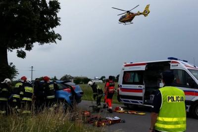 wypadek, Kcynia - mat. prasowe policji