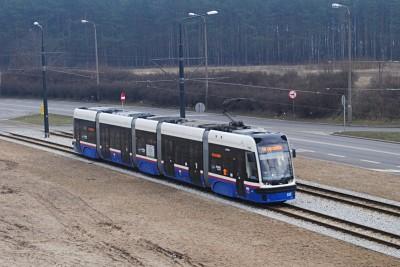 Tramwaj PESA - linia 10, Las Gdański, ulica Andersa - LG