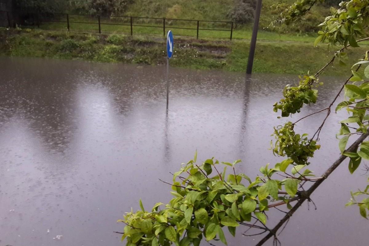 podtopienia, ulewa, woda, deszcz - nadesłane