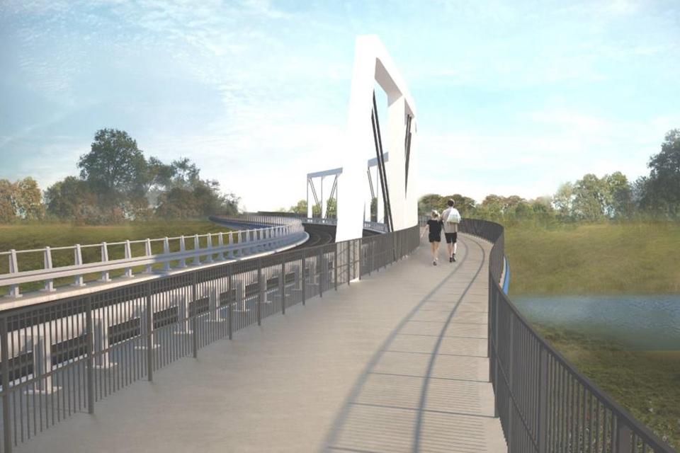 wizualizacja, most tramwajowy