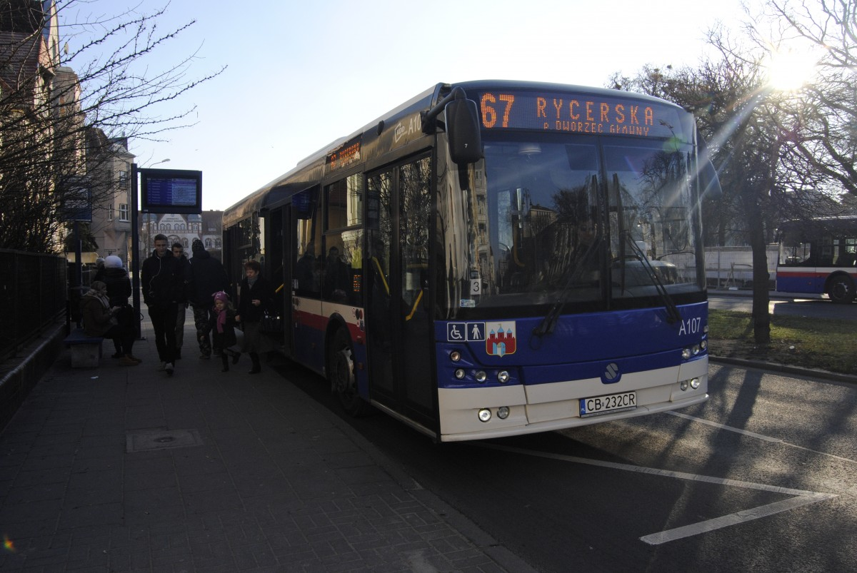 Autobus - linia 67, Rycerska, ulica Mickiewicza - LG