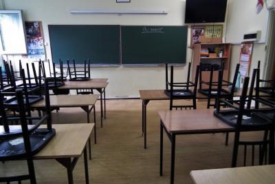 Szkoła, sala lekcyjna, ławki, krzesła_edukacja