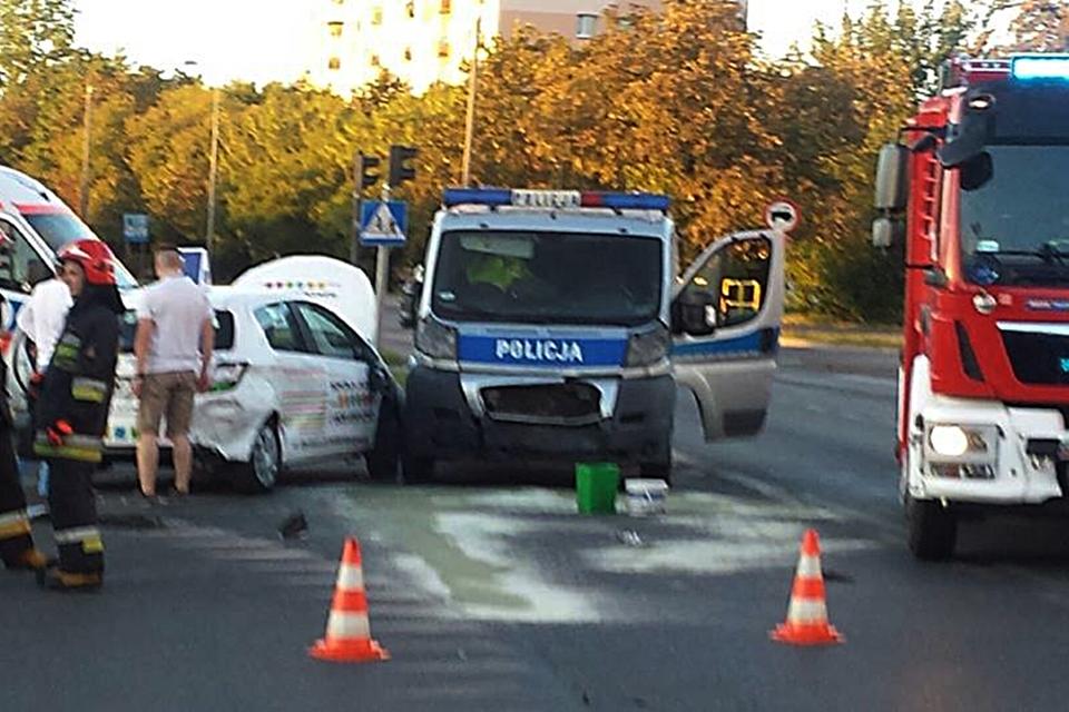 wypadek, policja, nauka jazdy