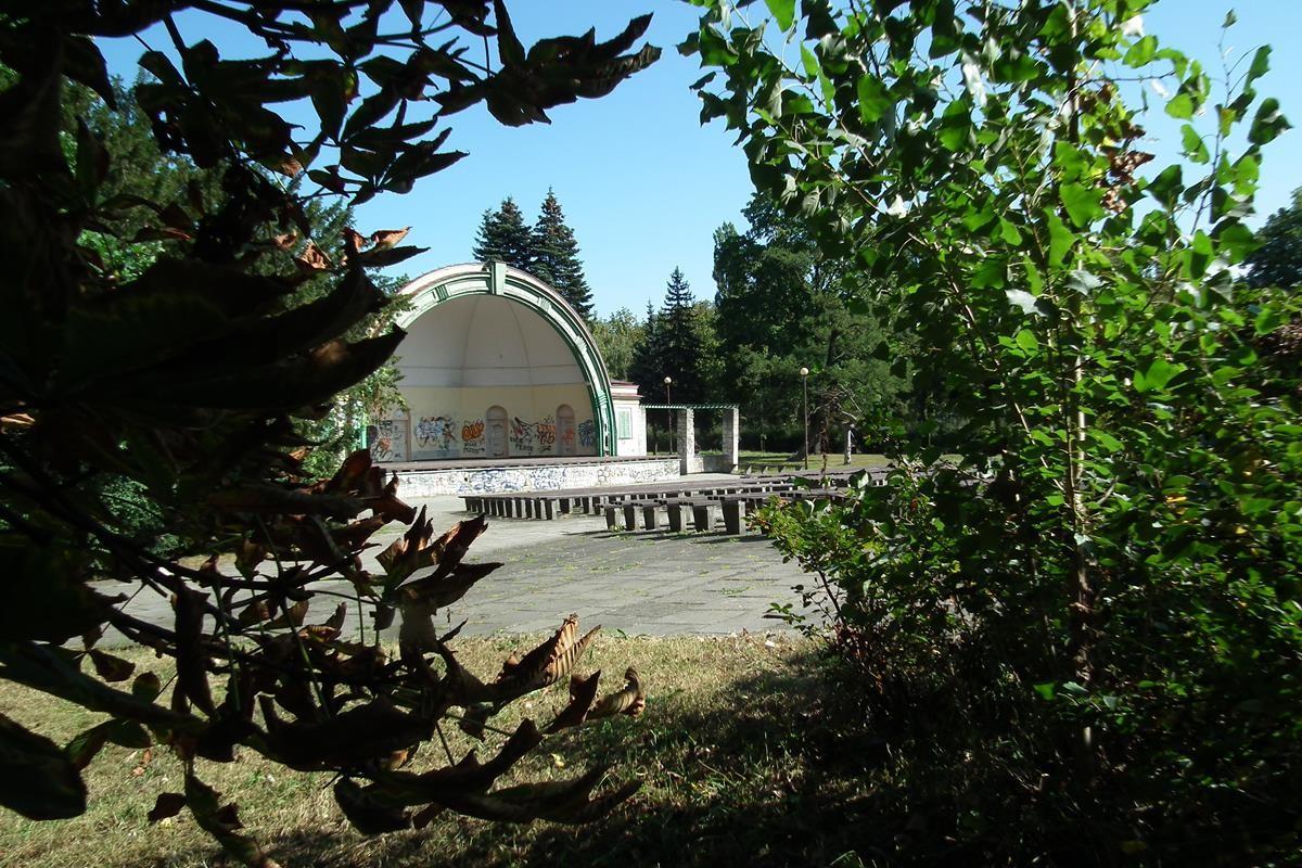 muszla koncertowa, park witosa
