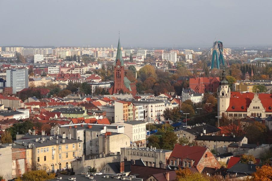Bydgoszcz, wieża ciśnień, panorama, Stare Miasto, widok - Pit1233