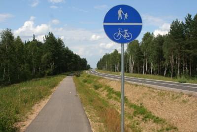 ciąg pieszo-rowerowy, wikipedia