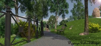 parki, wzgórze dąbrowskiego, wzgórze wolności, wizualizacje - UMB