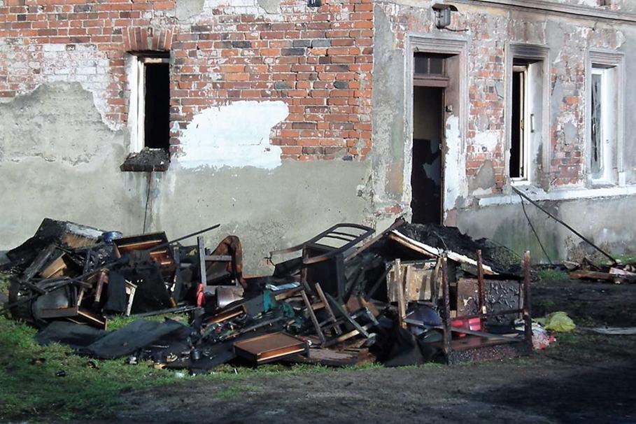 ulica Grunwaldzka, pożar - SG