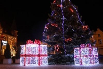 prezent, pakość, iluminacje