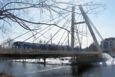 most Władysława Jagiełły, tramwaj - Pit1233