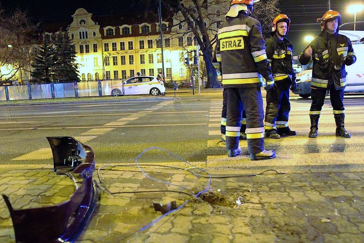 wypadek, rondo Grunwaldzkie, policja - SG