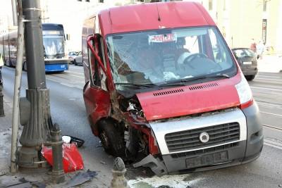 wypadek, rondo Jagiellonów - SG