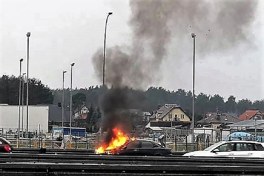 pożar auta Rafał Bvzala