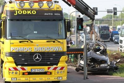 Wypadek tira na Rondzie Fordońskim_SG (5)