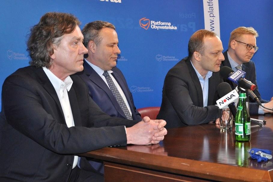 Zbigniew Sobociński, Rafał Bruski, Paweł Olszewski, Michał Stasiński, konferencja prasowa - ST