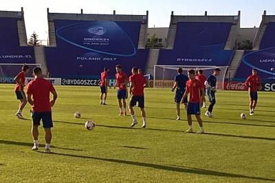 hiszpania, trening, euro u21 - SF