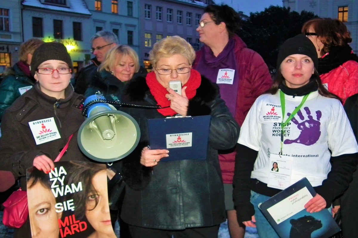 Protest kobiet przeciwko przemocy