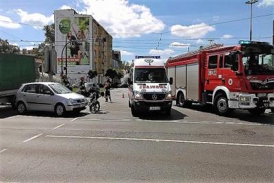 Rondo wypadek motocyklisty