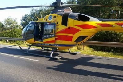 lotnicze pogotowie ratunkowe, helikopter, osp przechowo