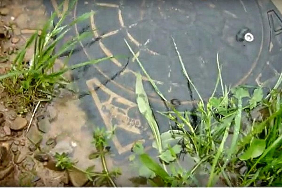 Studzienka kanalizacyjna - podtopienia