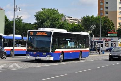 autobus, mercedes, linia 92 - st