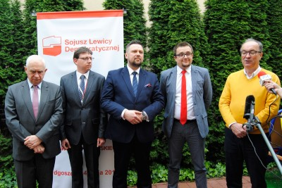 Janusz Zemke, Tomasz Mokos, Marcin Kulasek, Ireneusz Nitkiewicz, Włodzimierz Czarzasty, SLD, Sojusz Lewicy Demokratycznej - LG (1)