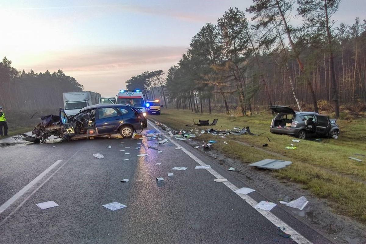 Wypadek_DK10_Białe Błota_Lisi Ogon