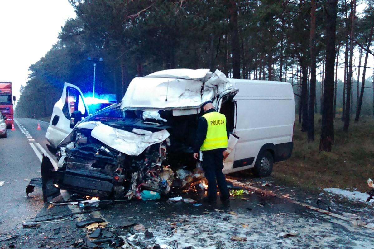 wypadek, dk 10 - policja (1)