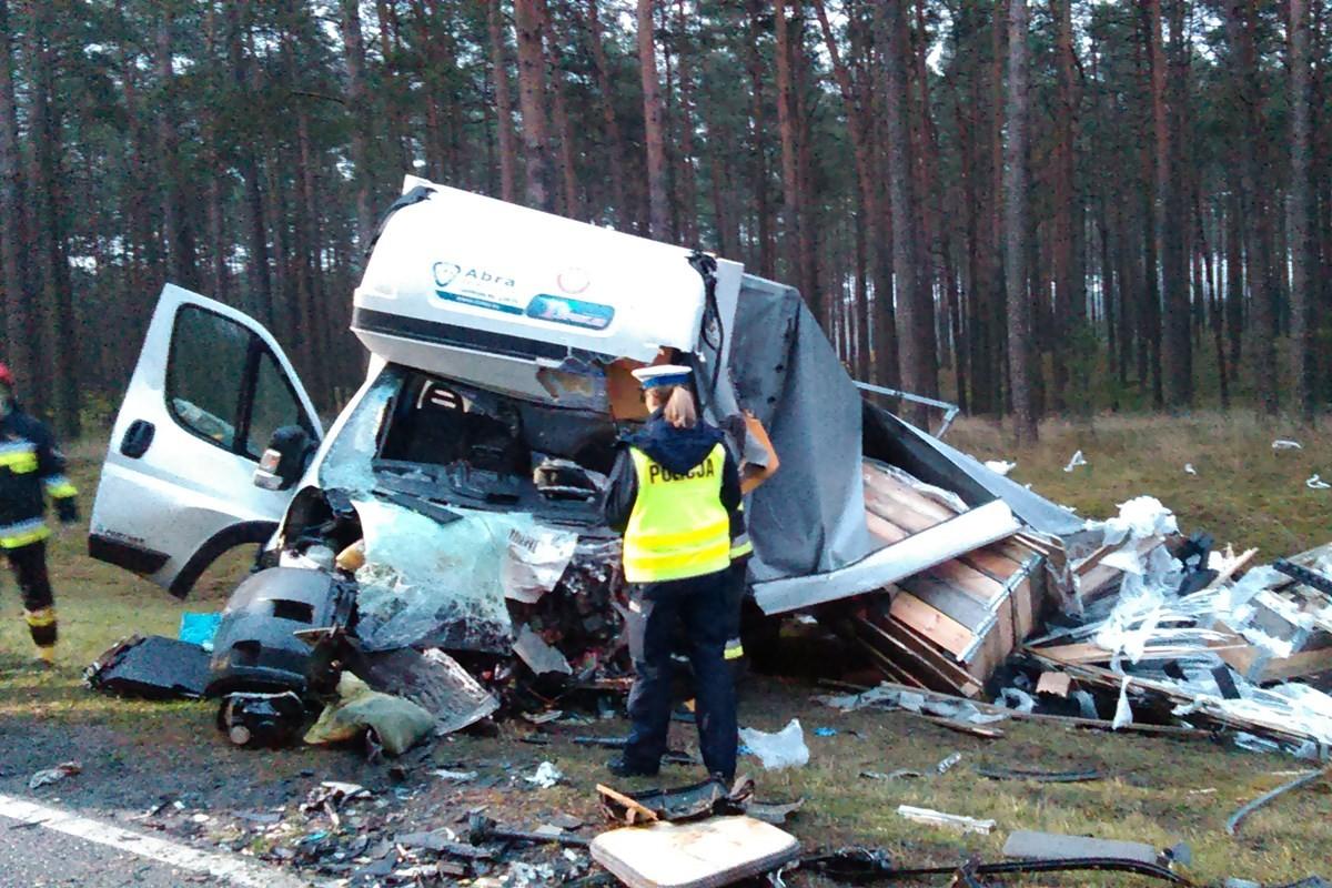 wypadek, dk 10 - policja (2)